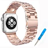 Woodln für Apple iWatch Series 1 Series 2 Edelstahl Uhrenarmband Strap Replacement Wrist Band...