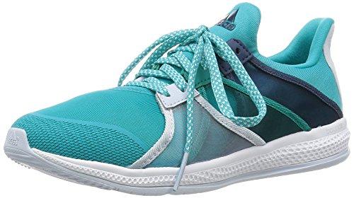 adidas Gymbreaker Bounce W, Zapatillas de Running Mujer, Verde/Gris/Negro (Verimp/Azuhal/Azumin), 37 1/3