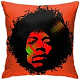 HOJJP Jimi Man Square Throw Pillow Covers Set Cushion Cases Pillowcases for Sofa Bedroom Car 18 X 18 Inch