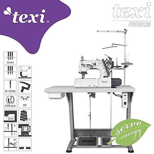 TEXI Industrie COVERlock - T-shirt - naaimachine - Compleet (met tafel & frame) - NIEUW