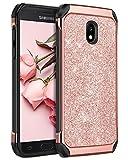 BENTOBEN Funda Samsung Galaxy J5 2017, Funda Samsung Galaxy J5 Pro 2017, Case Cover Brillante Resistente Anti-Golpes Durable PC Hibrido+ TPU Suave Fundas para Samsung J5 2017/J530/J5 Pro, Oro Rosa