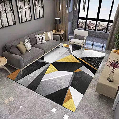 RUGMRZ Alfombras Online Baratas El patrón geométrico moderno y simple es suave y resistente a la suciedad, buen cuidado de la sala de estar, dormitorio, pasillo, cocina, alf120X180CM/3ft 11