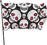 Viplili Flagge/Fahne, Skulls Vector Flag: 3x5 FT Flag Tough The Strongest, Longest Lasting Flag National Flag Outdoor Flags
