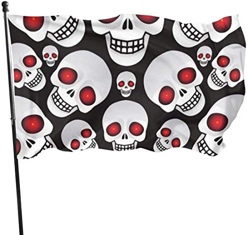 Viplili vlaggen/vlag, Skulls Vector vlag: 3 x 5 FT vlag Tough the Strongest, Longest Lasting Flag National Flag Outdoor Flags