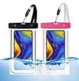 WUXINGMEILI Funda Impermeable Móvil Universal, IPX8 Estanca Agua Playa Bolsa Impermeables Movil Fundas Sumergible para iPhone BQ Aquaris Huawei Samsung y Moviles hasta 6.5'