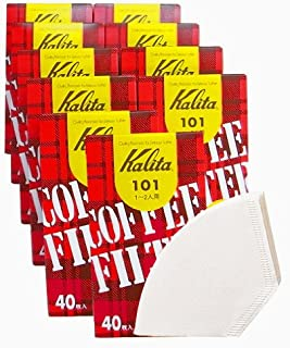 カリタ コーヒーフィルター 101濾紙 箱入り 1~2人用 40枚入り×10箱セット ホワイト #11037