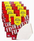 カリタ コーヒーフィルター 101濾紙 1~2人用 ホワイト (#11037) 40枚入x10