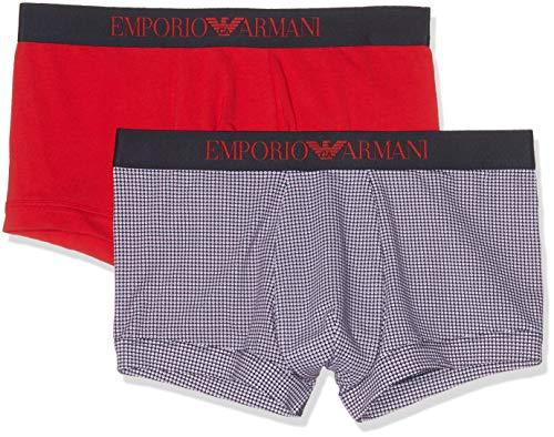 Emporio Armani Underwear 9p504 Costume da Bagno, Multicolore (Cerchi Mar-BCO/Rosso 58235), Large Uomo