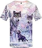 Camiseta Termica Niño Azul Camiseta De Lobo Unisex Camisas De Lobos Animal Salvaje Camiseta Gráfica Impresa En 3D