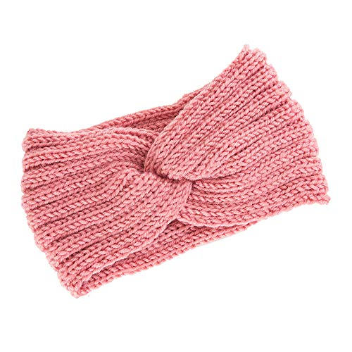 OSYARD Damen Mädchen Stirnband Kopfband Headband, Frauen Strick Stirnband Ohrwärmer Winter Kopfband Haarband,Twisted Knotted Crochet Stirnbänder Warm Wolle Turban Kopftuch Bandanas Ear Warmer