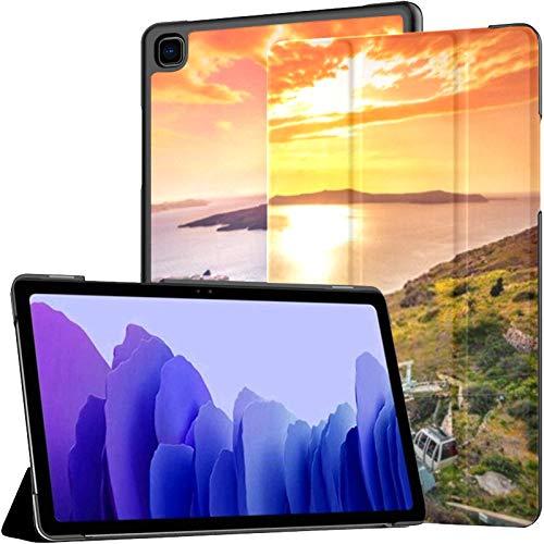 Funda para Samsung Galaxy Tab A7 Tableta de 10,4 Pulgadas 2020 (sm-t500 / t505 / t507), increíble Vista Nocturna Fira Caldera Volcano Funda con Soporte de ángulo múltiple con activación/suspensión