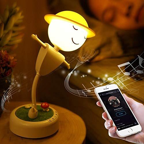 Nachtlicht drahtloser Bluetooth-Lautsprecher mit Vogelscheuchen-LED, der das Nachtlicht läutet .drei Lichter-Bluetooth-Ladekissen - für Kinderzimmer, Camping im Freien, Raumdekoration usw.