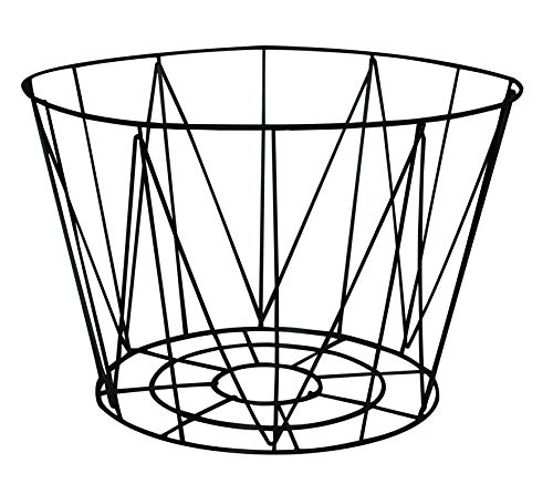 Box and Beyond - Cesta con cable de metal calado, color negro – Base: 22 x 22 x 20 cm / parte superior: 30 x 30 x 20 cm