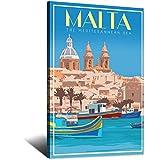RMBDD Vintage-Reise-Poster, Malta Valletta Wandkunst,