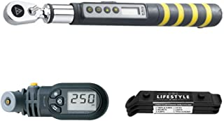 Topeak D-Torq Bike Torque Wrench Bundle with D2 SmartGauge and Lifestyle by Focus Tire Levers Set