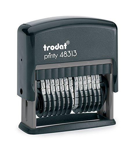 Trodat Printy 48313 Selbstfärbender Nummernstempel mit 13 Stellen, 3.8mm, Stempelfarbe schwarz
