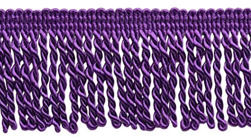 DÉCOPRO 10 Yard Value Pack 2.5 Inch Bullion Fringe Trim Style# EF25 Color: 188 - Dark Purple 9.5 Meters / 30 Ft