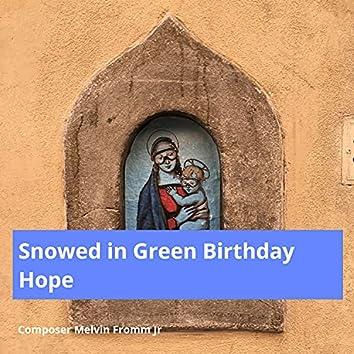 Snowed in Green Birthday Hope