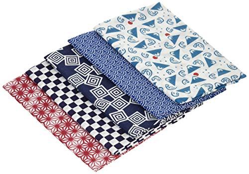 宮本 小紋 手ぬぐい 日本製 綿 伝統 小紋柄 NO2 5枚セット 約33×90cm