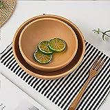 JTQMDD Cuenco de Madera para Cereales para ensaladas, Cuencos para Servir Frutas de Estilo japonés, Elegante Mesa de Comedor, vajilla de Madera para Frutas para ensaladas y arroz (Size : 12 * 5.5cm)