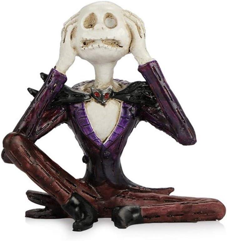 Color Name : Dont Listen YUNGYE Ornamento del Coche Resina Jack cr/áneo Estatuilla del Tablero de Instrumentos del autom/óvil Decoraci/ón Esqueletos Jack Decoraci/ón Accesorios de Regalos