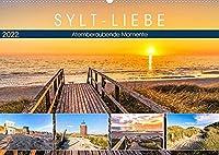 SYLT-LIEBE Atemberaubende Momente (Wandkalender 2022 DIN A2 quer): Die schoensten Inselblicke im Licht der Sonne (Monatskalender, 14 Seiten )