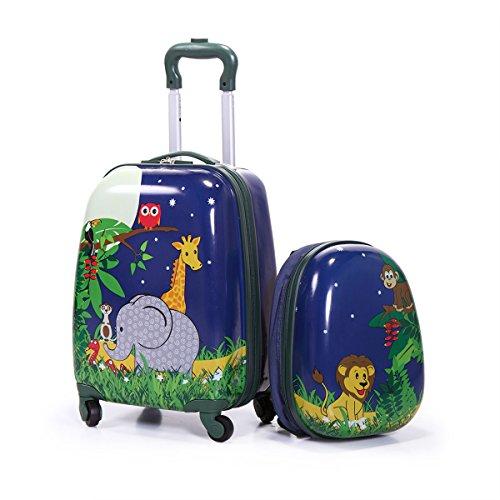 2 bagagli per bambini, 30,5 cm e 40,6 cm, set di valigie rigide, valigie da viaggio per ragazzi e ragazze