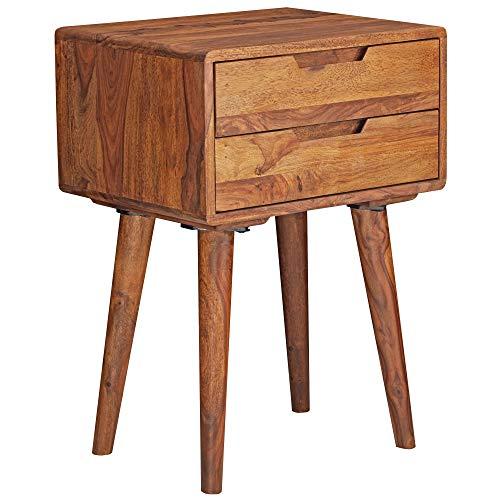 Wohnling WL5.578 nachtkastje, massief hout, bruin, 47 x 66 x 36 cm