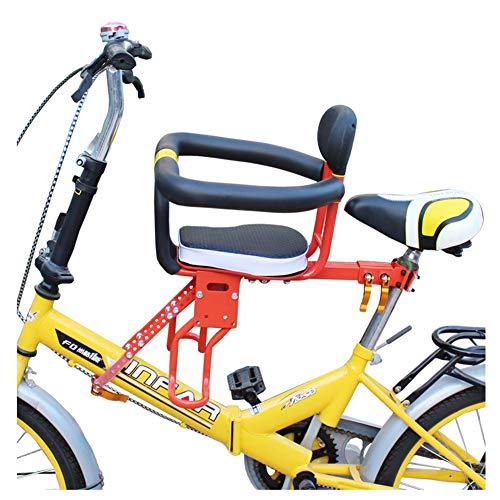 NACHEN Fahrrad Kindersitz Vorne Babysitz Faltbare Armlehne Fußstütze Inklusive Pedal Und Griff FüR HerrenfahrräDern Und DamenräDern