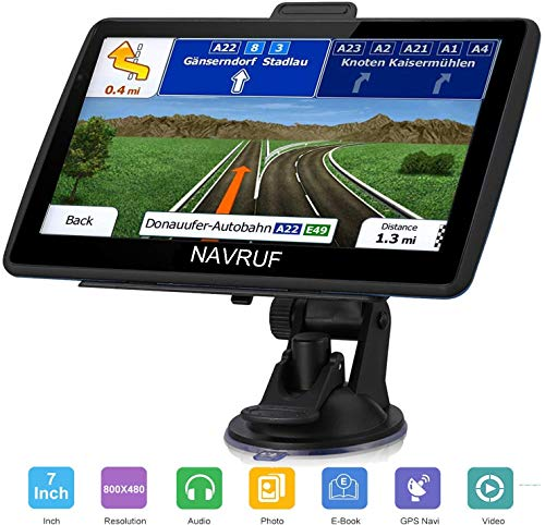 Car GPS Navigator, 7-inch 8GB HD Touch Screen Navigation System, Driving Alarm, Voice Transition Direction, with Sun Visor and Free Lifetime Update map