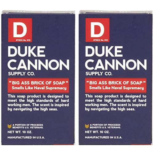 Duke Cannon Naval Supremacy Big Brick of Bar Soap for Men (Pack of 2)