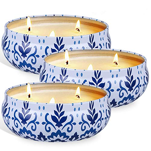 OFUN Citronella Candles Outdoor and Indoor, Large Candle for Home Scented 100% Natural Soy Wax, 80 Hours Burn Time for Patio Camping, Garden, BBQ (3Pack,14.5 oz x 3)
