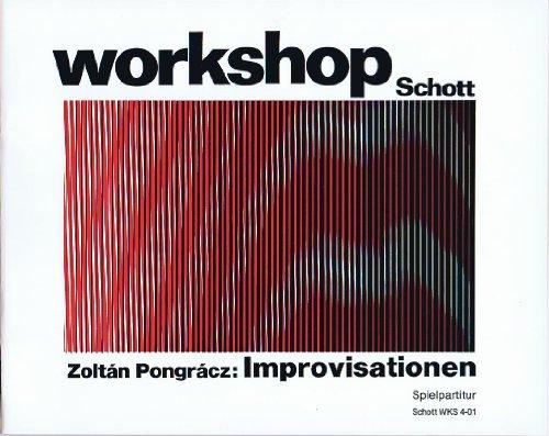 Improvisationen I-III: Schlagzeug und Klavier (I), 3 Schlagzeug-Gruppen und 3 Tonbandgeräte (II), 5 Schlagzeug-Gruppen mit Klavier (III). Spielpartitur. (Workshop)