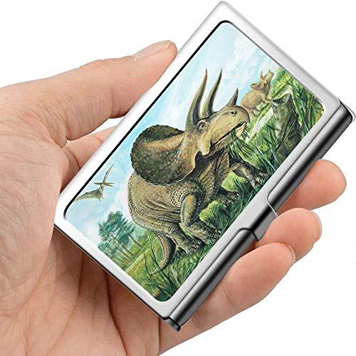 Triceratops Planteater Más grande con cuernos Alrededor de 20 Elegante tarjetero Tarjeta...