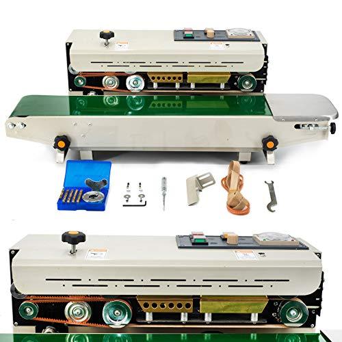 シーラー機 全自動シール機 FR900 自動水平連続 連続バンドシーラー フィルムシール アルミホイル・ビニール袋 純銅の印字ホイール 生産効率UP