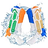 Balnore Water Gun for Kids, 2 Packs Water Soaker Blaster, High Capacity 1200CC Squirt Gun, up to 32 Feet Range for Boys Girls Adult Summer Swimming Pool Party Outdoor Beach Water Fighting