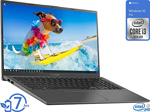 ASUS Vivobook R Laptop, 15.6' FHD Display, Intel Core i3-1005G1 Upto 3.4GHz, 4GB RAM, 128GB NVMe SSD, HDMI, Card Reader, Wi-Fi, Bluetooth, Windows 10 Pro S