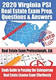2020 Virginia PSI Real Estate Exam Prep Questions and Answers: Study Guide to Passing the Salesperson Real Estate License Exam Effortlessly