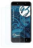 Bruni Película Protectora Compatible con M-Net Power 1 Protector Película, Claro Lámina Protectora (2X)