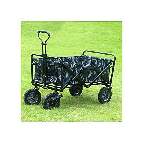 BIAOYU Carrito de la compra plegable con 4 ruedas portátil carrito de la compra con barra de empuje para compras, picnic, almacenamiento en el hogar reutilizable (color: 3)