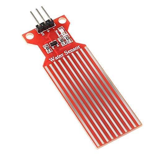 Wasserstandssensor Tropfensensor Wassertiefenerkennungsmodul Wassersensor für UNO Wassertiefenerkennungsmodul - Rot