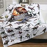 Dinosaur Blanket for Boys Dinosaur Plush Kids Blanket - Jurassic Dino Blanket Soft Lightweight Flannel Blanket - Dinosaur Room Decor for Boys Sofa Bed Throw Blanket Dinosaur Gifts for Kids 50x60 Inch