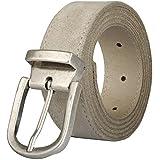Pierrot - Cintura Uomo Pelle - 30 Colori - Personalizzabile con 8 fibbie intercambiabili- In Originale Pelle Premium - Taglia Unica 110cm Ritagliabile - Fabbricata in Italia e in Francia.