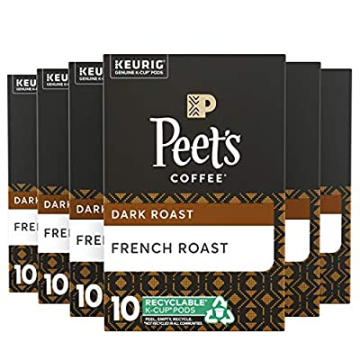 Peet's Coffee French Roast K-Cup Coffee Pods for Keurig Brewers, Dark Roast, 60 Pods