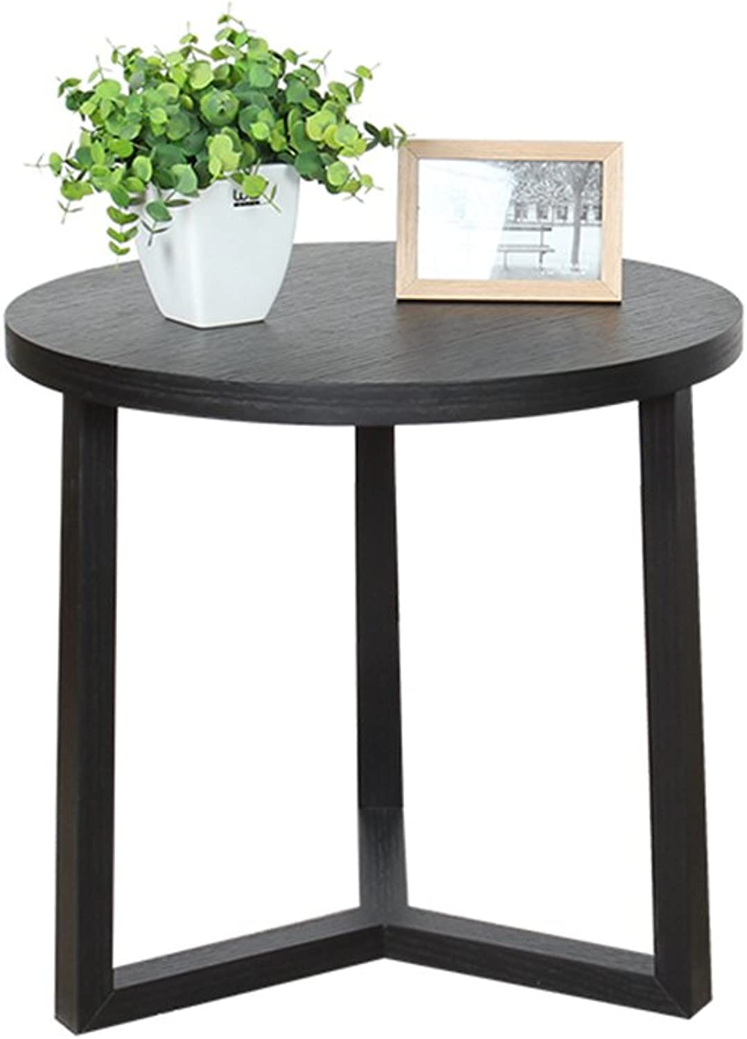 KTYXGKL Small Coffee Table Combination of Solid Wood Corner Creative Modern Minimalist Simple Living Room Side Scandinavian Sofa Round Edge Folding Table (Size    1)