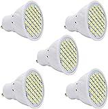 5 Pack ampoules LED GU10, 2.5W 48 SMD ampoules blanches froides 20W ampoule halogène remplacer 200LM éclairage encastré Downlight lampe à économie d'énergie AC 220V