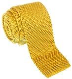 Cravatta a maglia Retreez, modello Vintage, stile Casual elegante, da uomo 5,1cm, in vari colori Gold Taglia unica