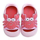 Szsppinnshp Toddler Boys Girls Slides Sandals Garden Clogs Kids Cute Cartoon Crab Bump Toe Sandals Slip On Shower Slippers Lightweight Baby Summer Pool Beach Shoe for Indoor Outdoor Pink