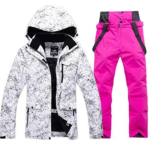 Fashion - Chaqueta de esquí y Pantalones para Mujer, Impermeable, Resistente al Viento, diseño de Snowboard - - XX-Large