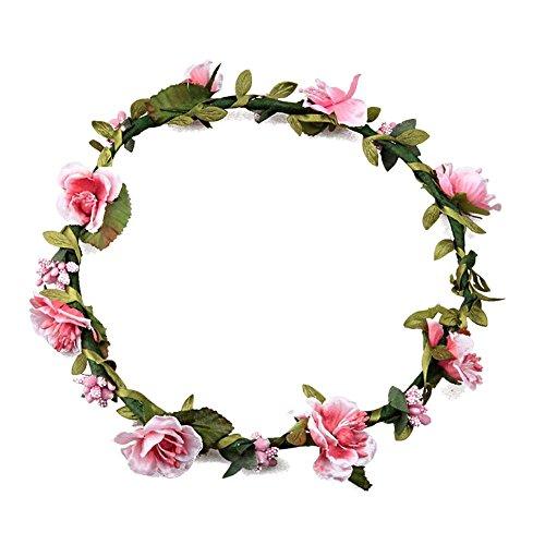 Mujeres chicas Boho Diademas de flores, Tukistore Tocado nupcial de la corona...